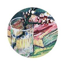 Van Gogh - Blossoming Almond Branch Round Ornament