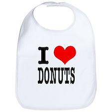 I Heart (Love) Donuts Bib