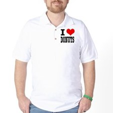 I Heart (Love) Donuts T-Shirt