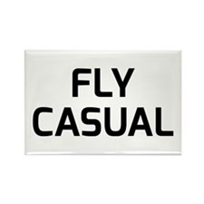 Fly Casual Rectangle Magnet