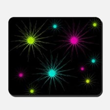 scratchburst jewel tones Mousepad