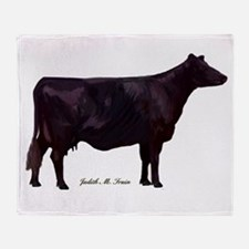 Angus Beef Cow Throw Blanket