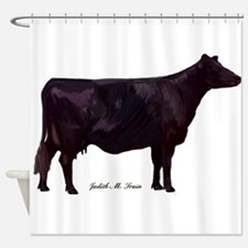Angus Beef Cow Shower Curtain