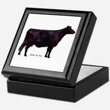 Angus Beef Cow Keepsake Box