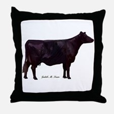 Angus Beef Cow Throw Pillow