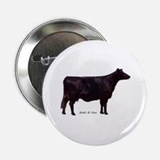 """Angus Beef Cow 2.25"""" Button"""
