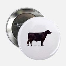 """Angus Beef Cow 2.25"""" Button (10 pack)"""
