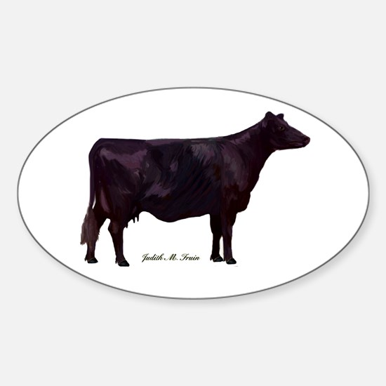 Angus Beef Cow Sticker (Oval)