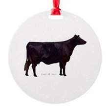 Angus Beef Cow Ornament
