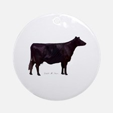 Angus Beef Cow Ornament (Round)