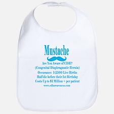 Mustache Madness for CDH Awareness! Bib