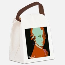Mozart_portraitDarkOrange Canvas Lunch Bag