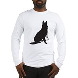 Shepherd with leash Long Sleeve T-shirts
