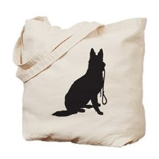 Shepherd with Leash Tote Bag