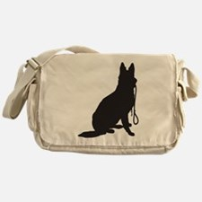 Shepherd with Leash Messenger Bag