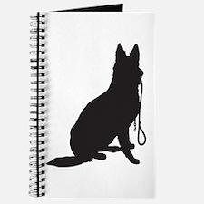 Shepherd with Leash Journal