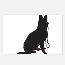 Shepherd with Leash Postcards (Package of 8)