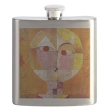 Modern Art Face with Eyes Flask
