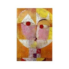 Modern Art Face with Eyes Rectangle Magnet