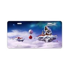 Christmas floating islands Aluminum License Plate
