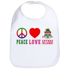Peace Love Cayman Islands Bib