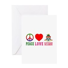Peace Love Cayman Islands Greeting Card