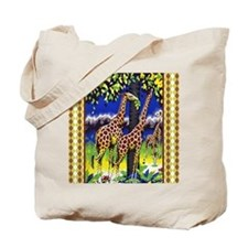 Vintage Giraffe Art Tote Bag