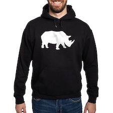 Rhinoceros Silhouette Hoodie