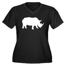 Rhinoceros Silhouette Plus Size T-Shirt