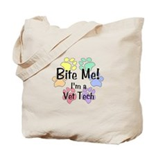 Bite Me! I'm A Vet Tech - Tote Bag