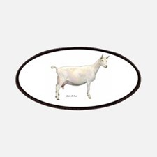 Saanen Dairy Goat Patches