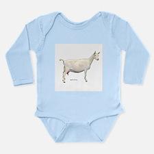 Saanen Dairy Goat Long Sleeve Infant Bodysuit
