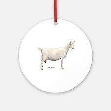 Saanen Dairy Goat Ornament (Round)