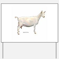 Saanen Dairy Goat Yard Sign