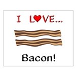 I Love Bacon Small Poster