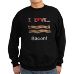 I Love Bacon Sweatshirt (dark)