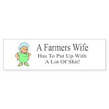 Farmers Wife Bumper Bumper Sticker