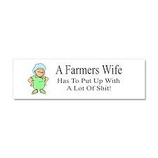 Farmers Wife Car Magnet 10 X 3