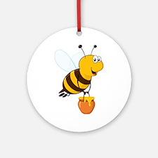 Honey Pot Bee Ornament (Round)