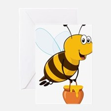 Honey Pot Bee Greeting Cards