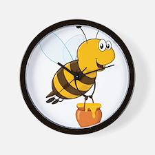 Honey Pot Bee Wall Clock