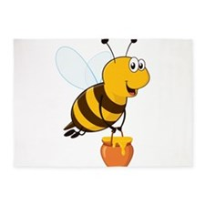 Honey Pot Bee 5'x7'Area Rug