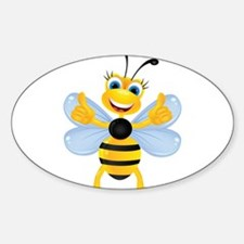 Thumbs up Bee Decal