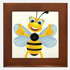 Thumbs up Bee Framed Tile