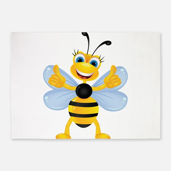 Thumbs up Bee 5'x7'Area Rug