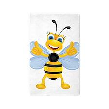 Thumbs up Bee 3'x5' Area Rug