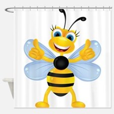 Thumbs up Bee Shower Curtain