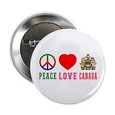 """Peace Love Canada 2.25"""" Button"""