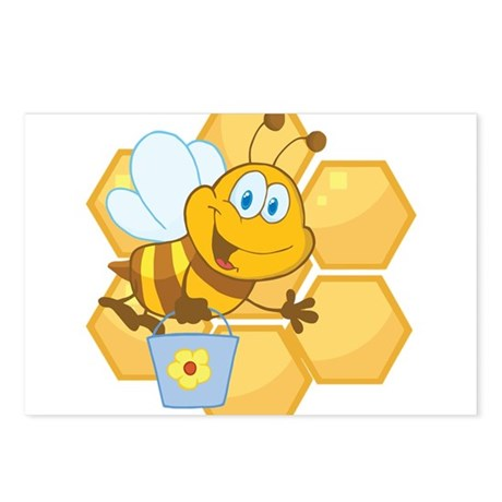 Honeycomb Bee Postcards (Package of 8)