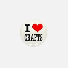 I Heart (Love) Crafts Mini Button (10 pack)
